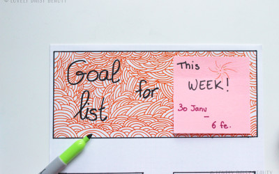 Weekly Goal Planner 🗓 ✅| Do It Yourself !