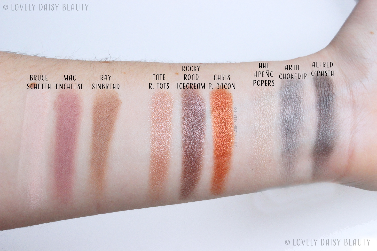 The-Balm-Appétit-Palette-6-swatches