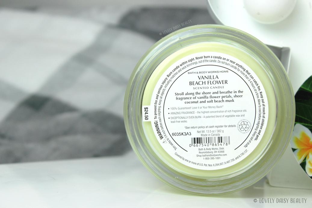 Vanilla Beach Flower Bath & Body Works  3