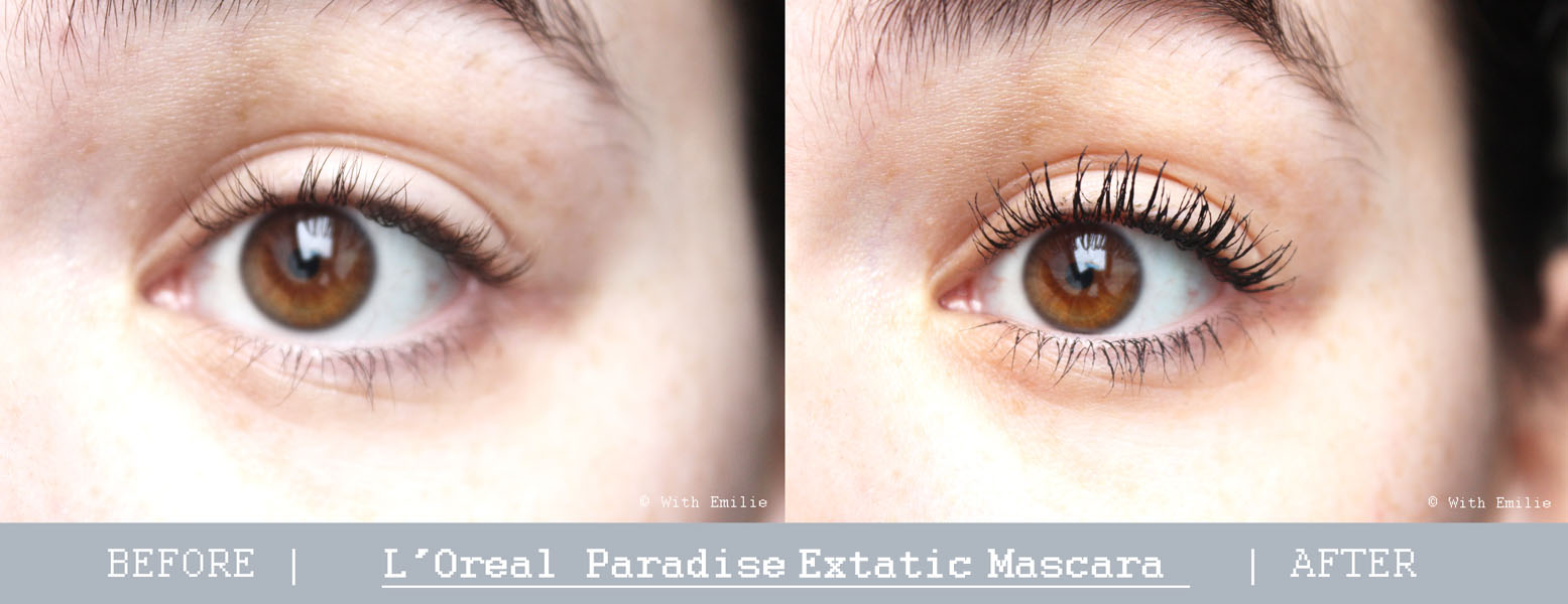 Before-after-mascara-Paradise-Extatic-L-oreal-WithEmilie