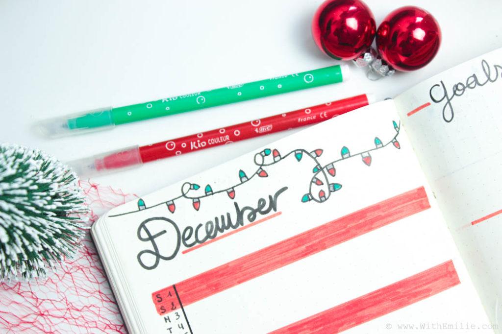 Mon Bullet Journal De Décembre Aux Couleurs De Noël With