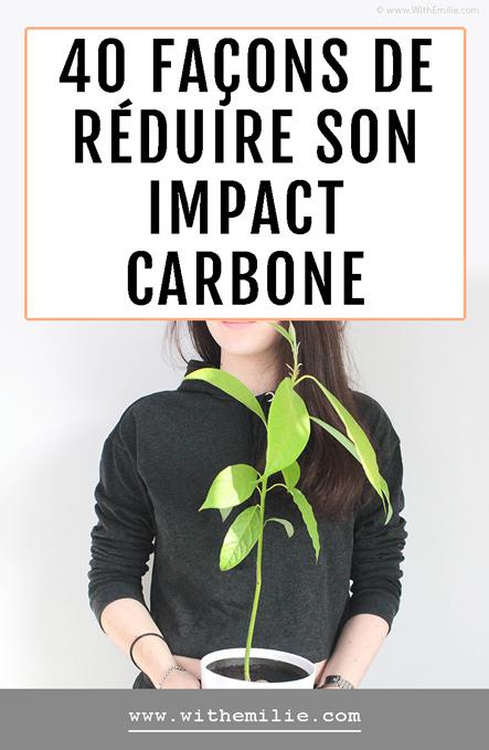 40 façons de réduire son impact écologique WithEmilieBlog Pinterest