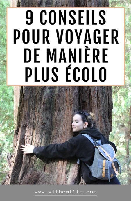 Voyager de manière plus écologique With Emilie Blog