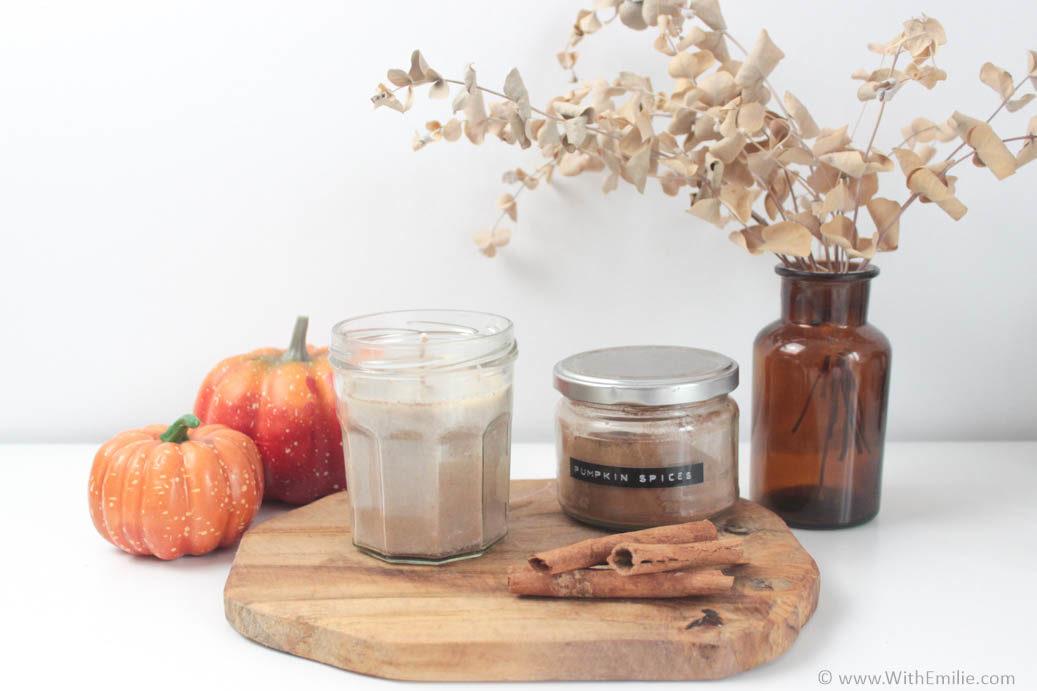 Recette de bougie végétale d'automne au pumpkin spice - WithEmilieBlog