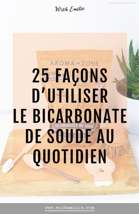 25 utilisations du bicarbonate de soude - With Emilie Pinterest 3