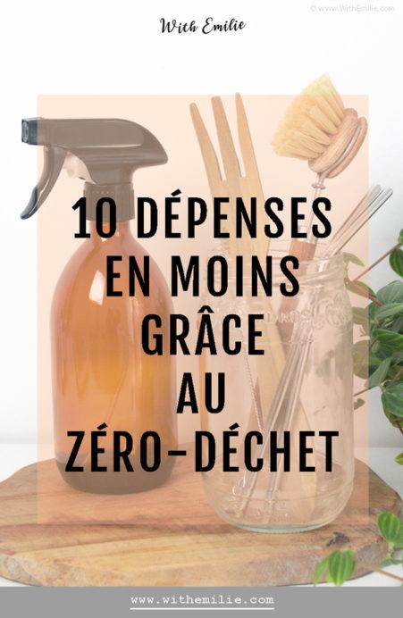 10 dépenses en moins grâce au zéro-déchet - With Emilie Blog Pinterest