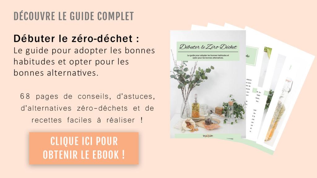 """Clique ici pour découvrir mon ebook """"Débuter le Zéro-Déchet"""""""