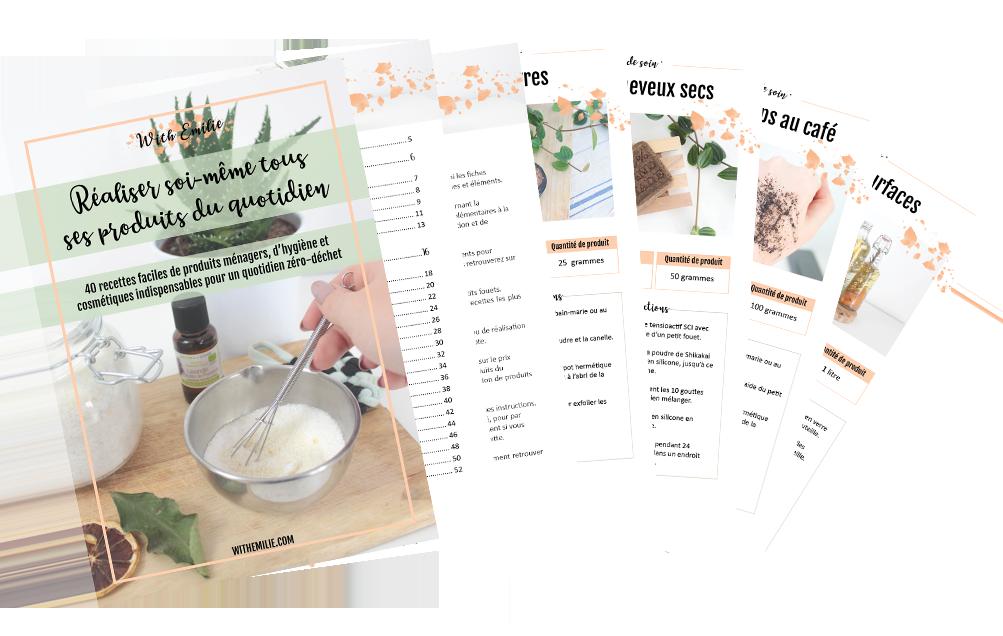 ebook recettes produits maison WithEmilie
