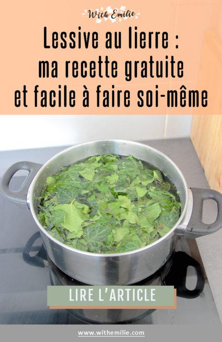 Recette lessive au lierre With Emilie Blog Pinterest
